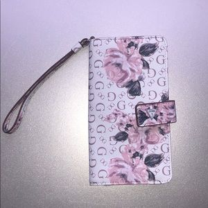 Rose, pink wallet from guess